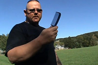 Self defense with everyday items, the blue plasic comb Video
